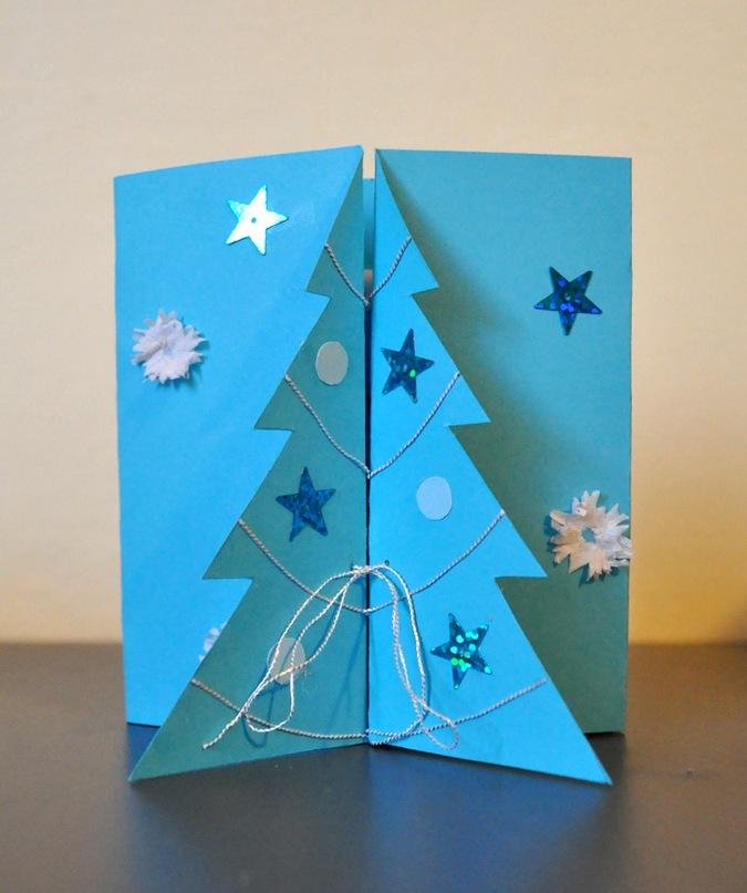 Как сделать новогоднюю открытку на конкурс, формы