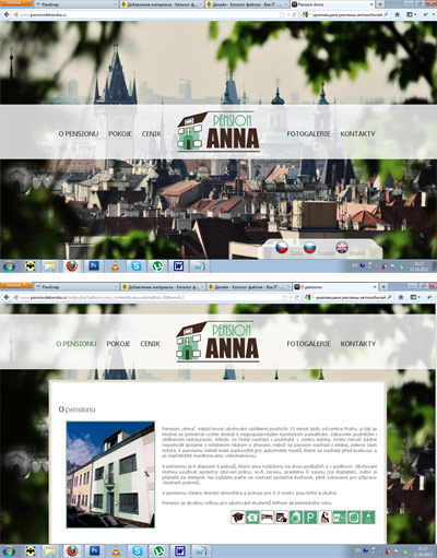 "Сайт пансиона  ""Anna"" (Прага)"